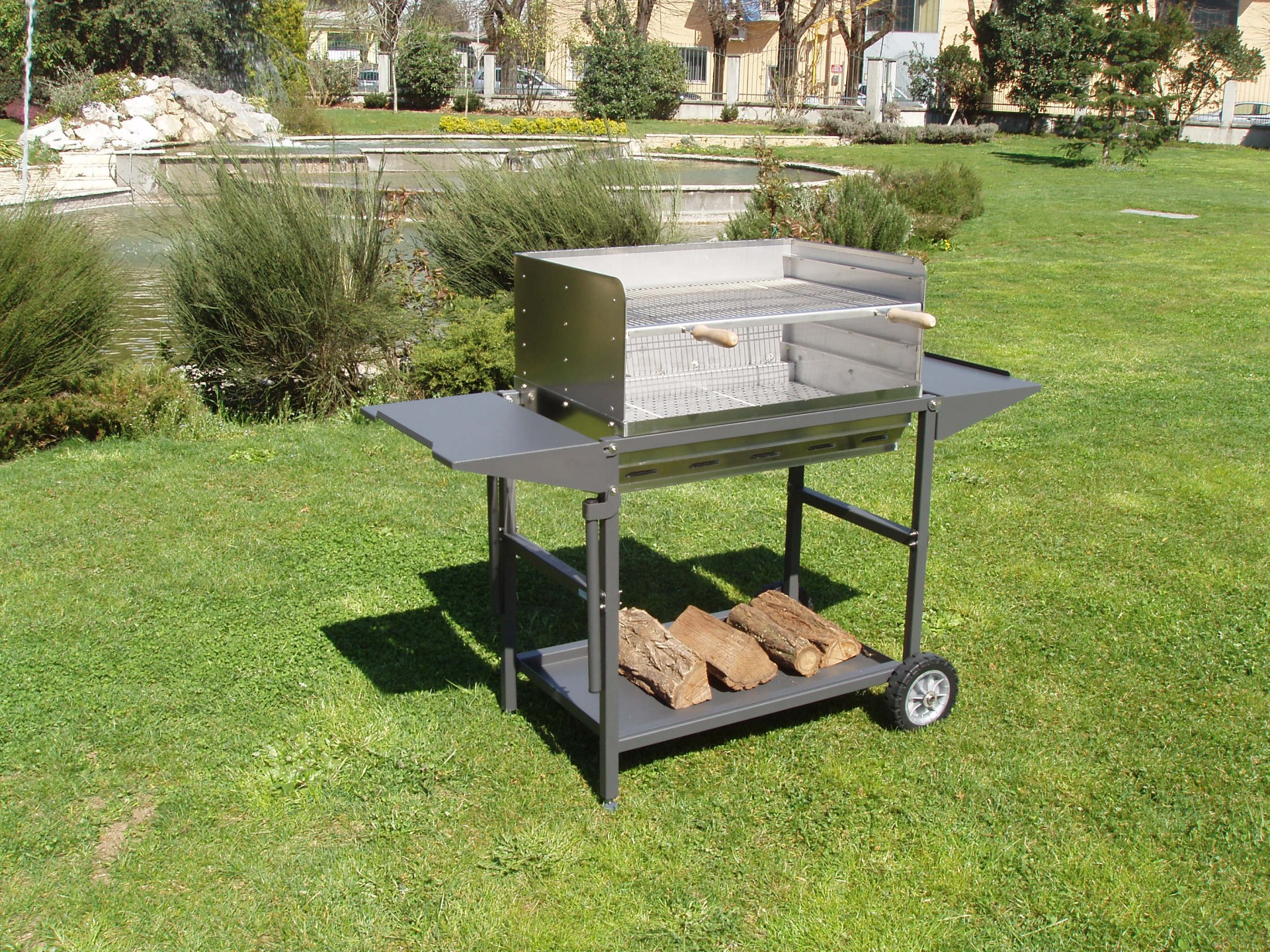 plan barbecue inox interesting vu with plan barbecue inox. Black Bedroom Furniture Sets. Home Design Ideas