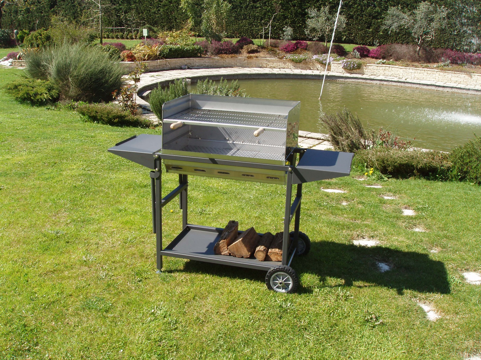 plan barbecue inox perfect alpes inox burner cooker with. Black Bedroom Furniture Sets. Home Design Ideas